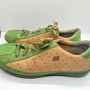 Born Sz 8 Eu 39 Leather & Suede Oxford Shoes Green